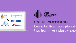 Webinar series covering each aspect of the sales planning process