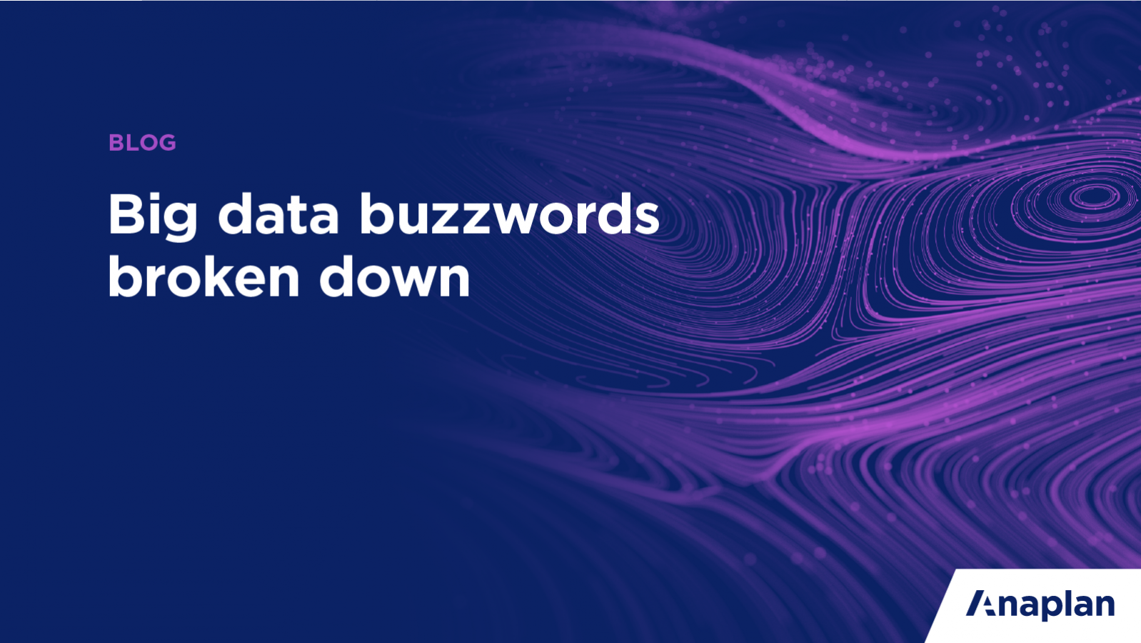 Blog banner image: Big Data Buzzwords